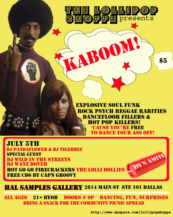 Kaboom (poster of the week July 3,2008 via Dallas Observer)